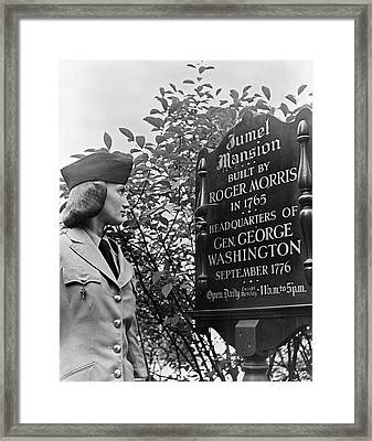 Nyc Servicewoman, C1940 Framed Print by Granger