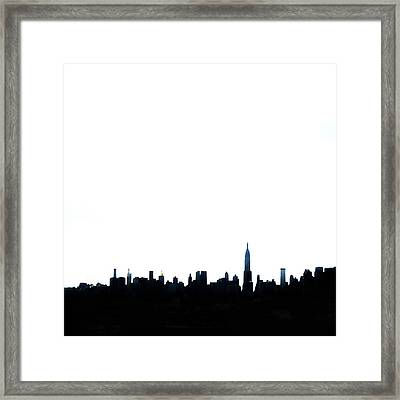 Nyc Silhouette Framed Print by Natasha Marco
