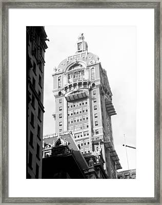 Nyc, Singer Building, 1967 Framed Print