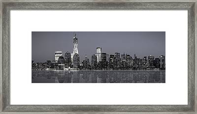 Nyc Skyline Framed Print by Eduard Moldoveanu