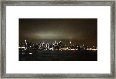Nyc Skyline Framed Print by Roque Rodriguez