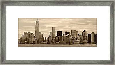 Nyc Skyline Framed Print by Stephen Stookey
