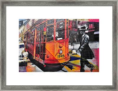 Nyc Street Art-old Times Square Framed Print by Regina Geoghan