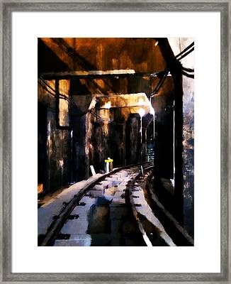 Nyc Subway Framed Print by H James Hoff