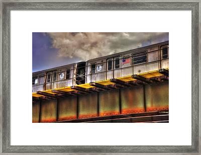 Nyc Subway Framed Print by Joann Vitali