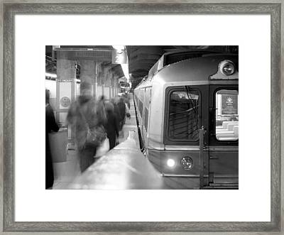Metro North/ct Dot Commuter Train Framed Print by Mike McGlothlen