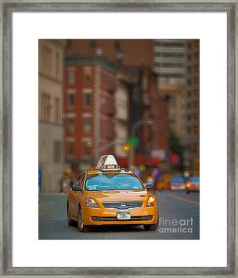 Taxi Framed Print by Jerry Fornarotto