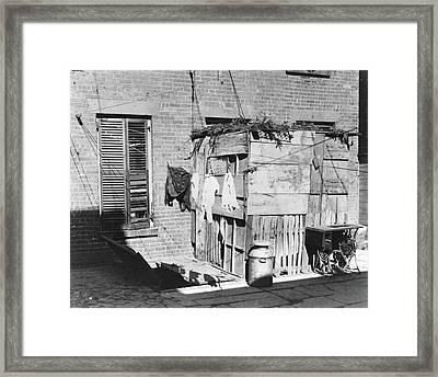 Nyc Tenement Life, 1897 Framed Print