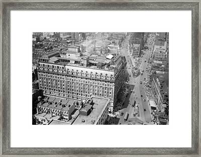 Nyc, Times Square, Hotel Astor, 1915-20 Framed Print