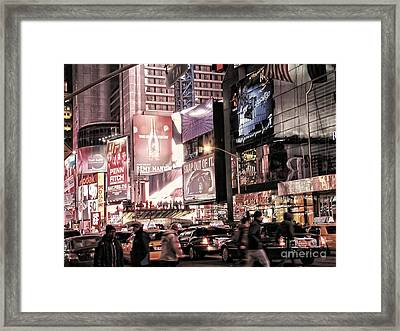 Nyc - Times Square Framed Print by Jesse Forrister