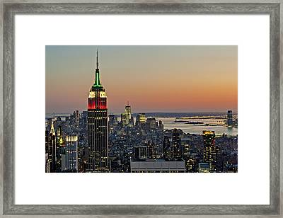 Nyc Top Of The Rock Framed Print by Susan Candelario
