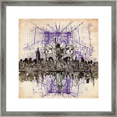 Nyc Tribute Skyline 5 Framed Print