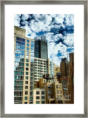 Nyc Urban Hdr Framed Print by Amy Cicconi