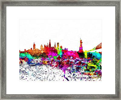 Nyc Watercolor Framed Print