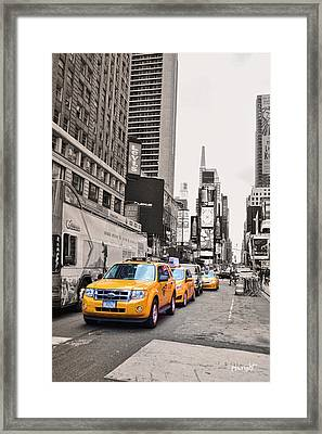 Nyc Yellow Cabs Framed Print