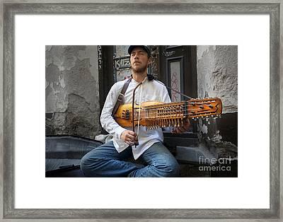 Nyckelharpa Player Of Estonia Framed Print
