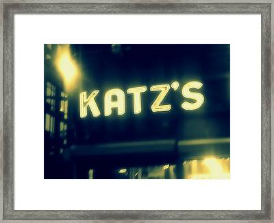 Nyc's Famous Katz's Deli Framed Print by Paulo Guimaraes