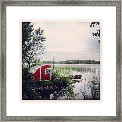 #nydala #nydalasjön #rödstuga #sjö Framed Print