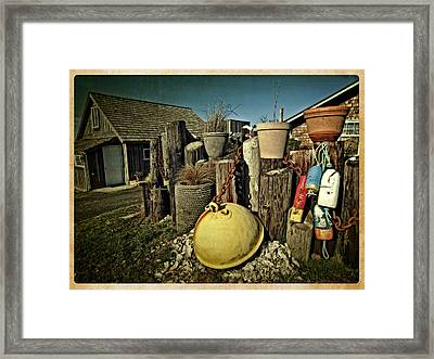 Nye Beach Buoys Framed Print by Thom Zehrfeld