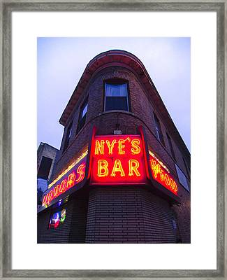 Nye's Bar By Day Framed Print by Heidi Hermes