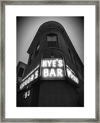 Nye's In Black And White Framed Print by Heidi Hermes