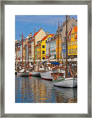 Nyhavn Sailboats Framed Print by Dennis Cox WorldViews