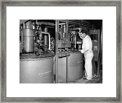 Nylon Production, 1950s Framed Print by Hagley Archive