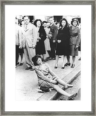 Nylon Stockings, Post-world War II Framed Print