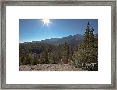 Nymph Lake And Longs Peak Framed Print by Kay Pickens