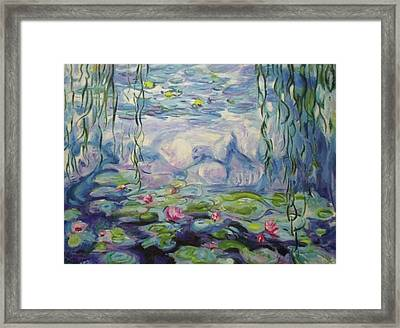 Nympheas Apres Monet Framed Print