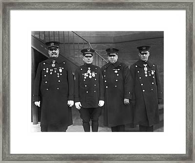 Nypd Honor Legion Members Framed Print