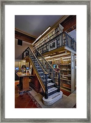 Nypl Genealogy Room  Framed Print by Susan Candelario