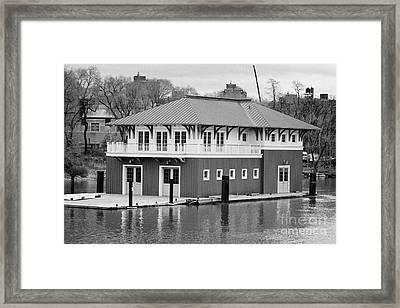 Nyrp Peter Jay Sharp Boathouse At Swindler Cove Park On The Harlem River New York City Framed Print by Joe Fox