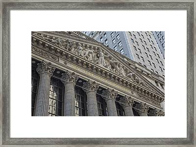 Nyse  New York Stock Exchange Wall Street Framed Print