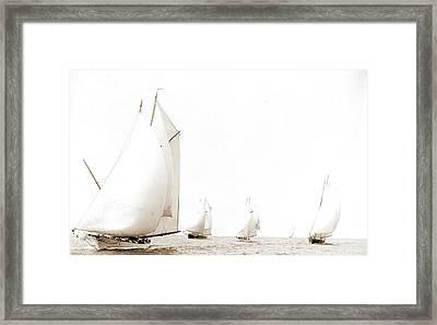 N.y.y.c. Fleet At Pollock Rip, New York Yacht Club Framed Print