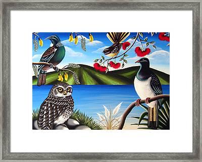 Nz Birds Framed Print