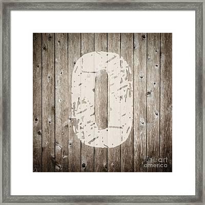 O Framed Print