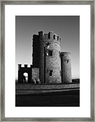 Briens Tower At The Cliffs Of Moher Framed Print by Aidan Moran
