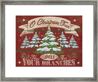 O Christmas Tree Framed Print by P.s. Art Studios