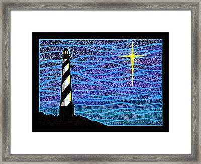 O Holy Night Hatteras Framed Print by Jim Harris