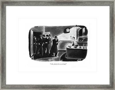 O. K., Bud, This Is A Stickup Framed Print by Richard Taylor
