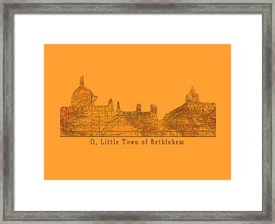 O Little Town Of Bethlehem Framed Print by Sarah Vernon