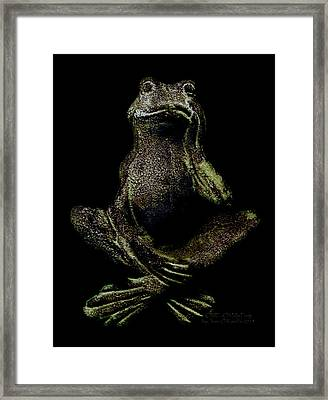 O M F Oh My Frog Framed Print by Jean OKeeffe Macro Abundance Art