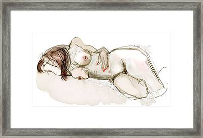 O Sleeping - Female Nude Framed Print