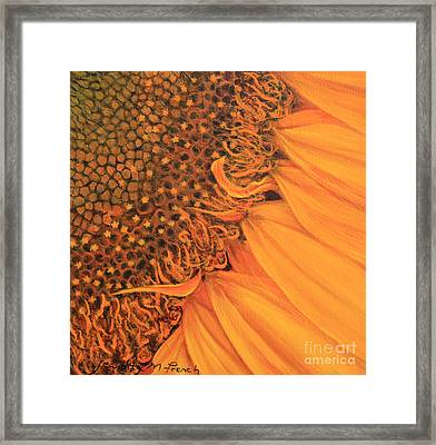 O Sunflower Framed Print by Jeanette French