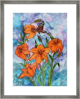 O Tiger Lily Framed Print by Janet Immordino