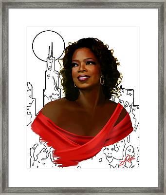O Town Oprah Framed Print
