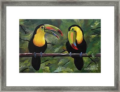 O Yeah Yeah Yeah -toucans Framed Print