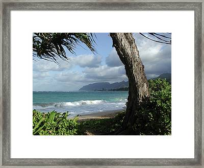 Oahu Coastline Framed Print