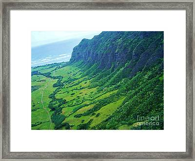 Oahu Jurassic Park Cliffs Framed Print